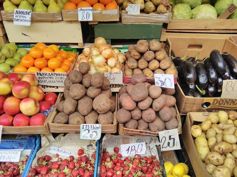 Стоимость картошки на рынке