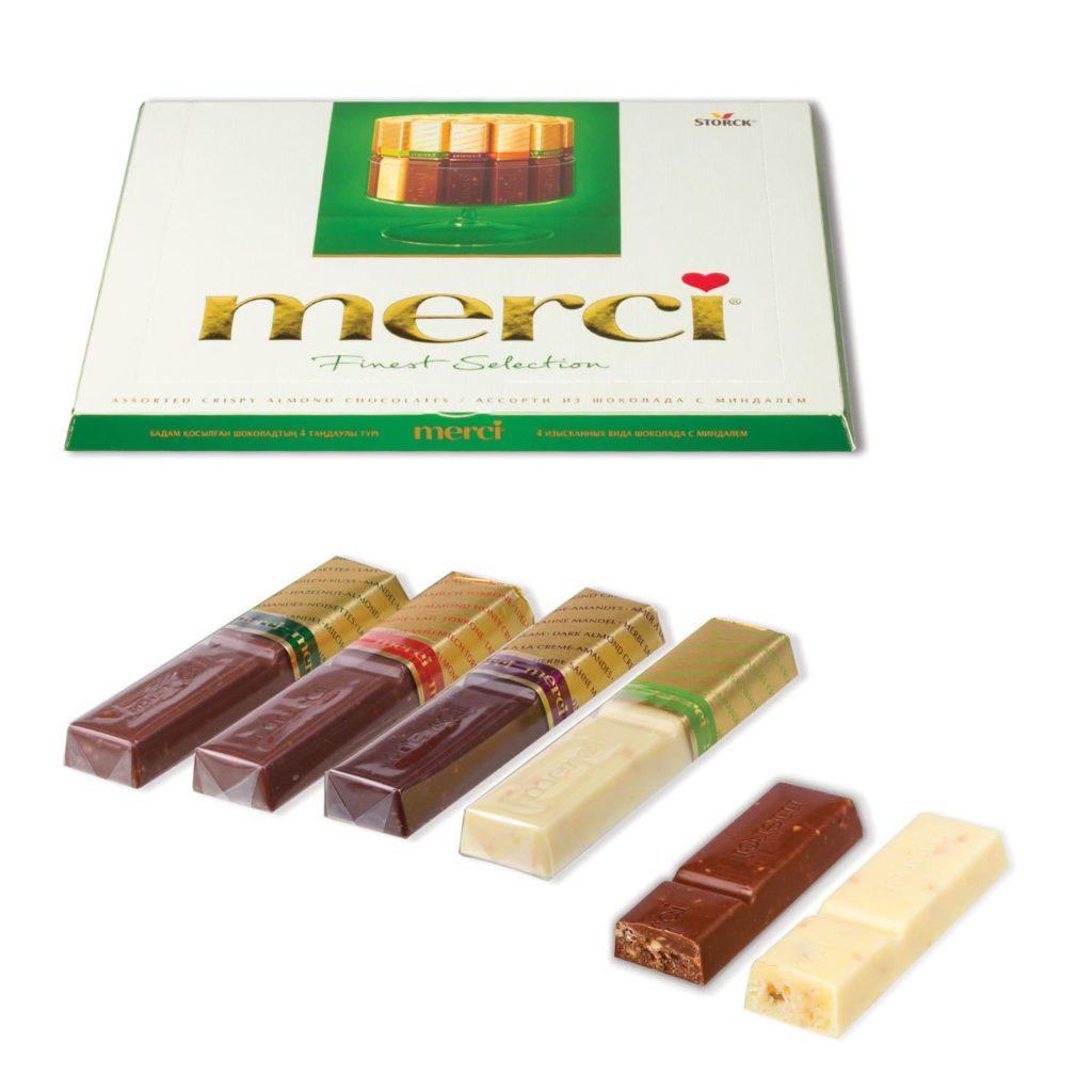 Стоимость конфет Мерси