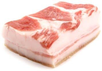 Стоимость свежего свиного сала